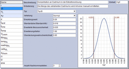 example features of using GUMsim for measurement uncertainty calculations